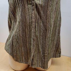 St. John's Bay Tops - St John's Bay Green stripe XL Vneck sleeveless